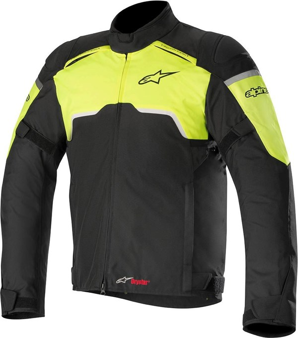 ALPINESTARS Hyper Drystar Jacket Zwart-Geel Fluo