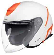 SCHUBERTH M1 Pro Strike Mat Blanc - Orange