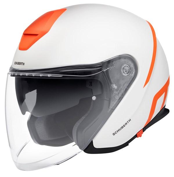 SCHUBERTH M1 Pro Strike Mat Wit - Oranje