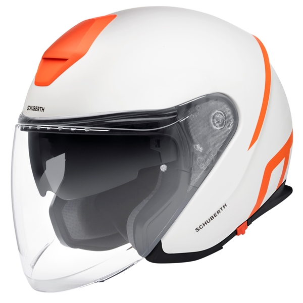 SCHUBERTH M1 Pro Strike Mat Blanc - Orange