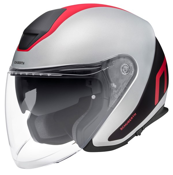 SCHUBERTH M1 Pro Triple Mat Gris - Rouge