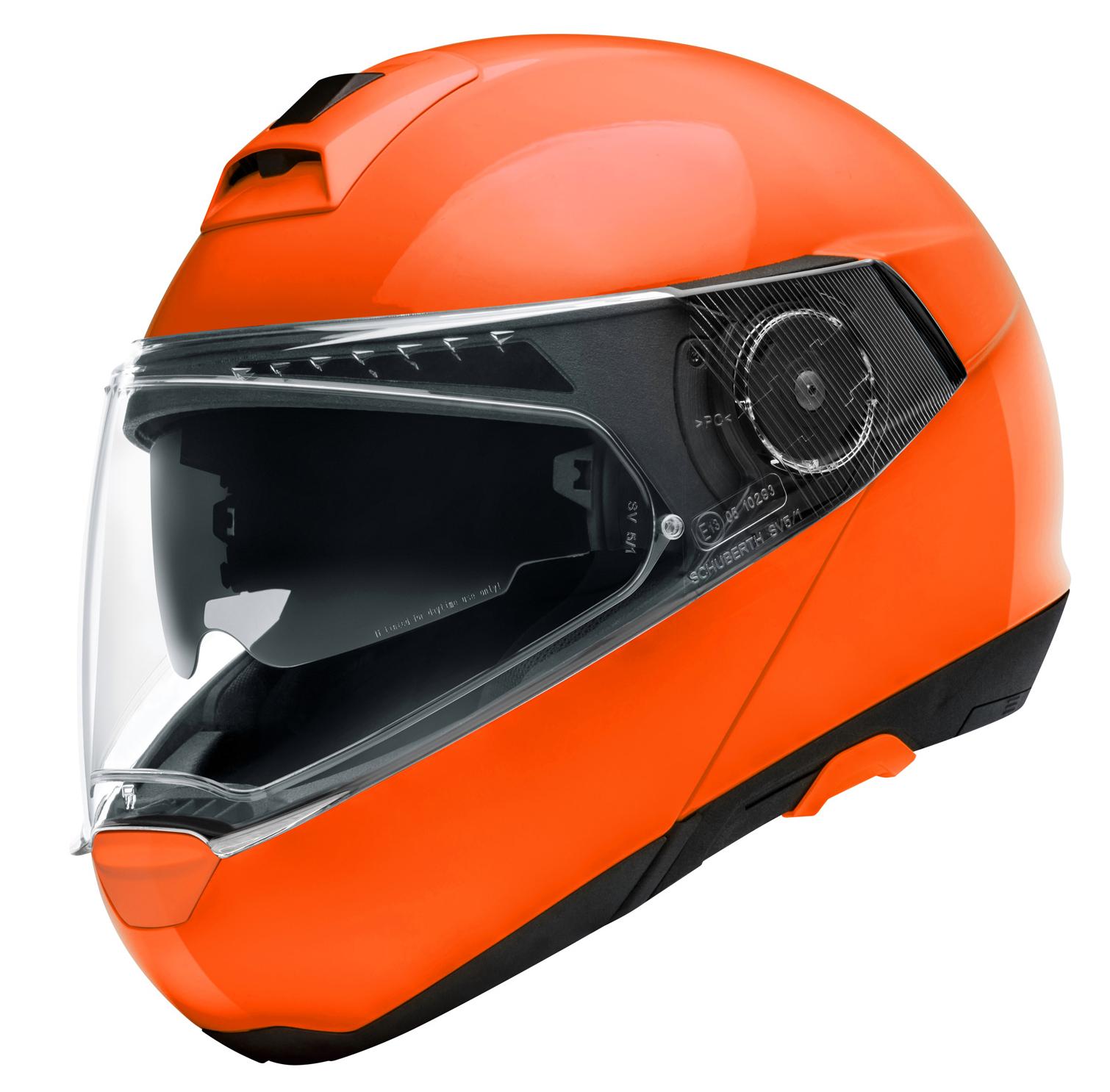 Schuberth C4 Pro Orange Fluo