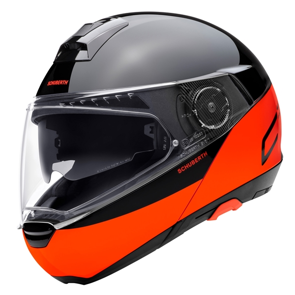 SCHUBERTH C4 Pro Swipe Noir - Orange Fluo