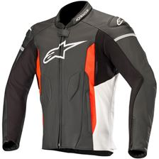 ALPINESTARS Faster Jacket Zwart-Wit-Rood Fluo
