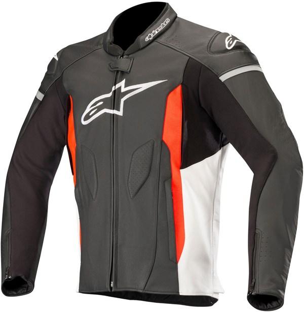 ALPINESTARS Faster Jacket Noir-Blanc-Rouge Fluo