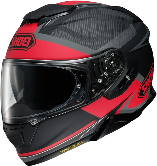 SHOEI GT-Air II Affair Mat Zwart-Rood TC-1