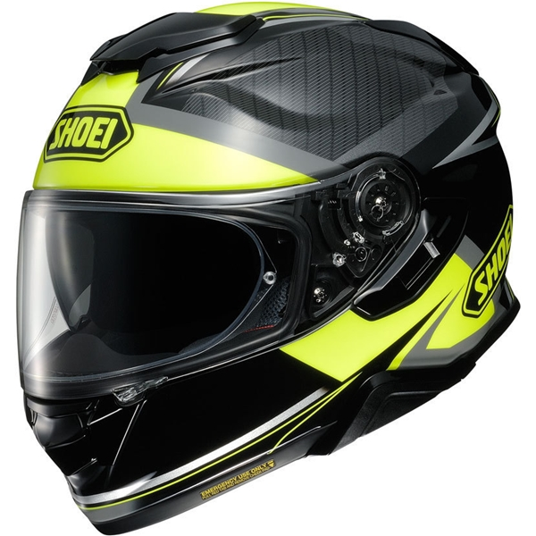 SHOEI GT-Air II Affair Noir-Jaune Fluo TC-3