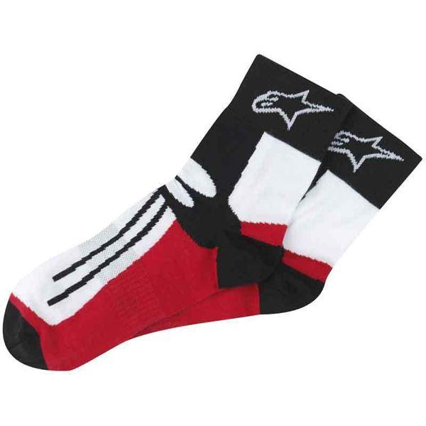 ALPINESTARS Racing Road Socks Kort Zwart-Rood