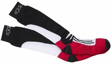 Racing Road Socks Lang Zwart-Rood