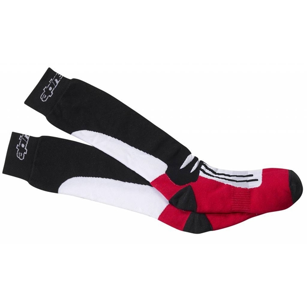 ALPINESTARS Racing Road Socks Longues Noir-Rouge