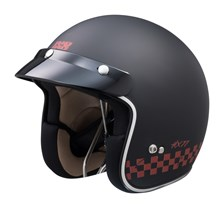 IXS iXS 77 2.0 Mat Noir - Rouge