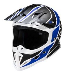 IXS iXS 361 2.1 Mat Zwart - blauw