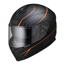 IXS iXS 1100 2.1 Mat Noir - Orange