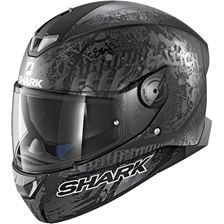 SHARK Skwal 2 Rep. Switch Riders 2 Mat Noir-Anthracite-Argent KAS White led