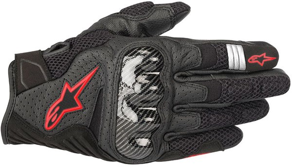 ALPINESTARS SMX-1 Air V2 Noir-Rouge Fluo