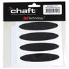 CHAFT Autocollants casque réfléchissants 4 pièces - Noir