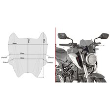 GIVI Windscherm - Naked bike - A A1164