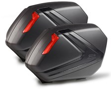 GIVI V37 valises carbon look reflecteurs rouges