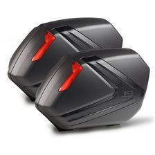 GIVI V37 zijkoffers carbon look rode reflectoren