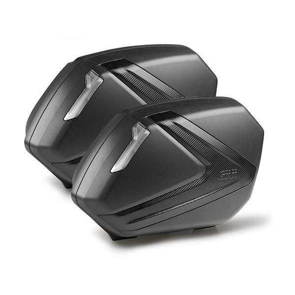 GIVI V37 zijkoffers carbon look fumé reflectoren