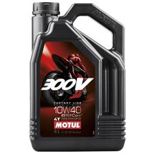 MOTUL 10W-40 synthétique 300V Factory road racing 4 litres