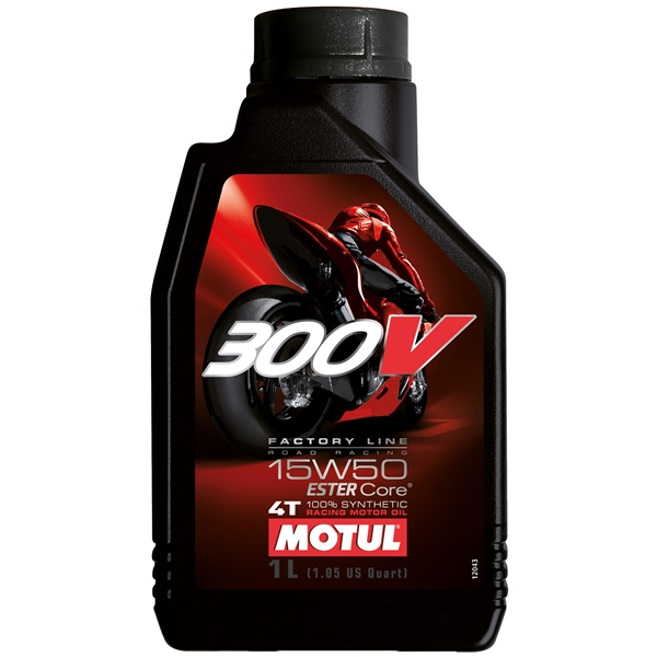 MOTUL 15W-50 300V Factory road racing synthétique 1 litre