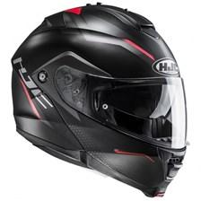 HJC IS-Max 2 Dova sans Pinlock Mat Noir - Gris - Rouge