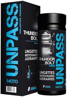 UNPASS Thunderbolt avec microfibre dans étui 35 lingettes