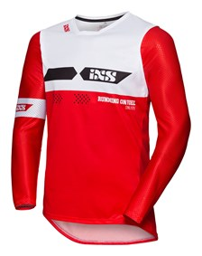 IXS MX jersey 2.0 Slim Rouge - Blanc