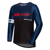 IXS MX jersey 2.0 Slim Noir - Bleu