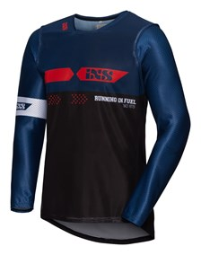 IXS MX jersey 2.0 Slim Zwart - Blauw