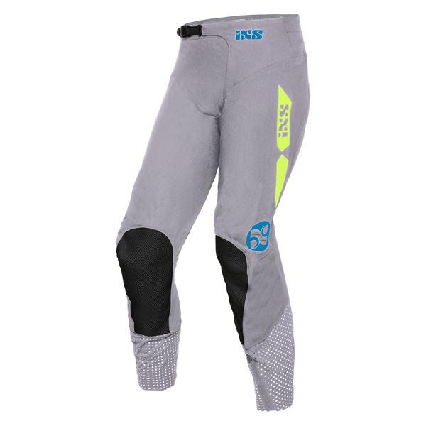 IXS MX Pantalon 2.0 stretch Gris - Jaune fluo