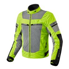 REV'IT! Tornado 2 HV Jacket Fluogeel - Zilver