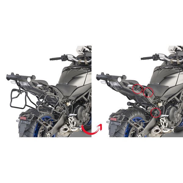 GIVI Zijkofferhouders V35  en V37 koffers - PLXR PLXR2143