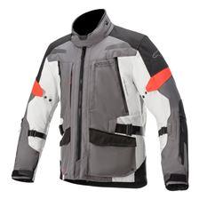ALPINESTARS Valparaiso V3 Drystar Jacket Donker Grijs-Licht Grijs-Rood