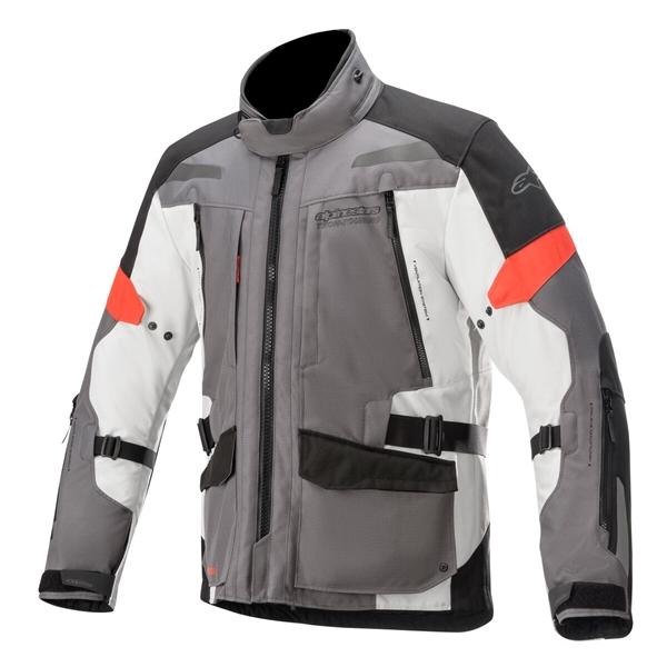 ALPINESTARS Valparaiso V3 Drystar Jacket Gris Foncé-Gris Clair-Rouge
