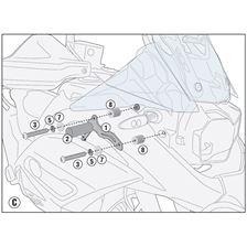 GIVI Kit de montage pour spotlights S310 ou S322 LS5134