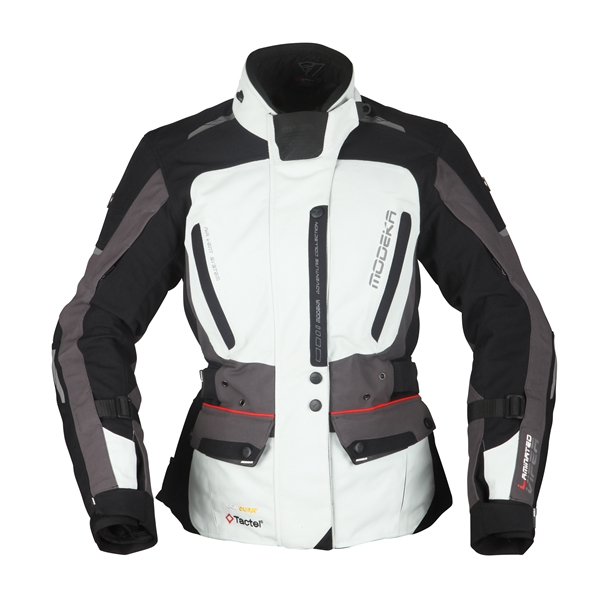 MODEKA Viper LT Lady Jacket Licht grijs-antraciet -zwart
