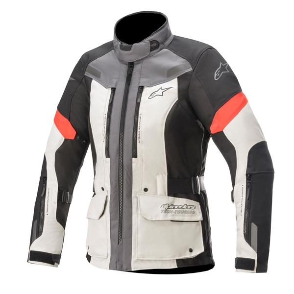 ALPINESTARS Stella Valparaiso V3 Drystar Jacket Licht Grijs-Donker Grijs-Rood