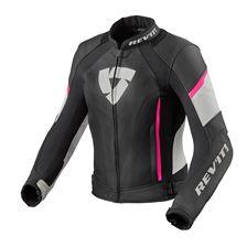 REV'IT! Xena 3 Lady Jacket Zwart - Roze