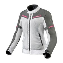 REV'IT! Airwave 3 Lady Jacket Zilver - Roze