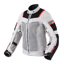 REV'IT! Tornado 3 Lady Jacket Zilver - Zwart