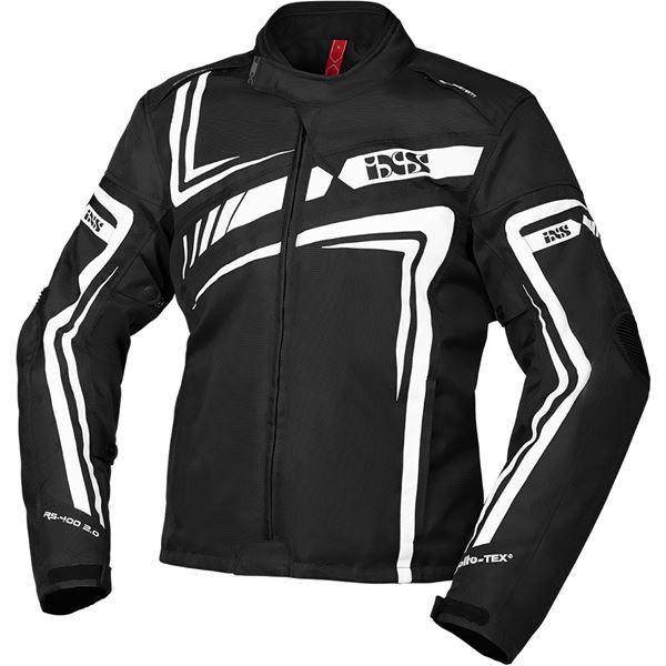 IXS RS-400-ST 2.0 jacket Zwart - Wit