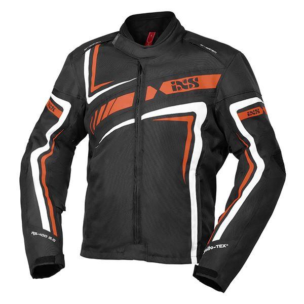 IXS RS-400-ST 2.0 jacket Noir - Orange