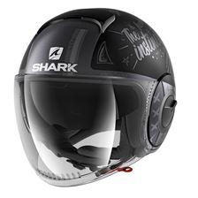 SHARK Nano Tribute RM Mat Zwart-Antraciet-Zilver KAS