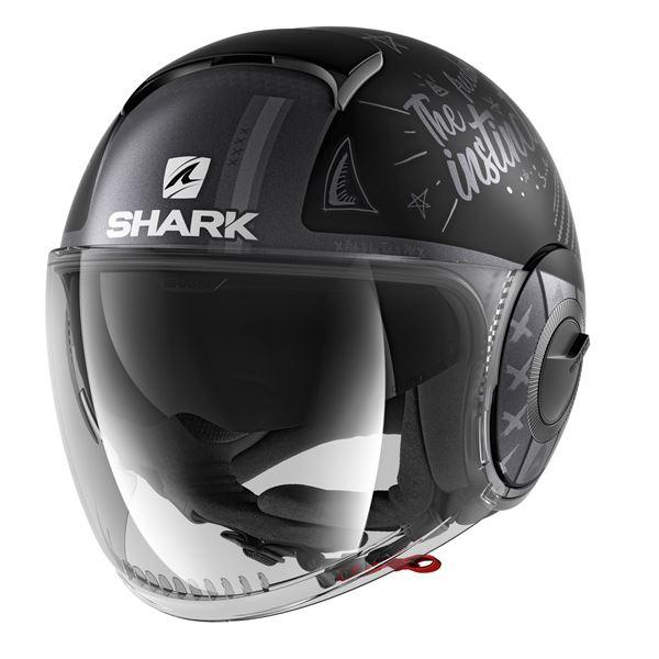 SHARK Nano Tribute RM Mat Noir-Anthracite-Argent KAS