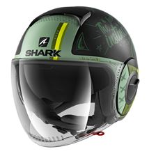 SHARK Nano Tribute RM Mat Noir-Vert-Vert KGG