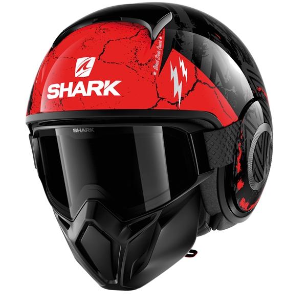 SHARK Street-Drak Crower Zwart-Antraciet-Rood KAR