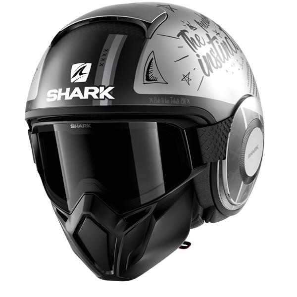 SHARK Street-Drak Tribute RM Mat Zilver-Antraciet-Antraciet SAA