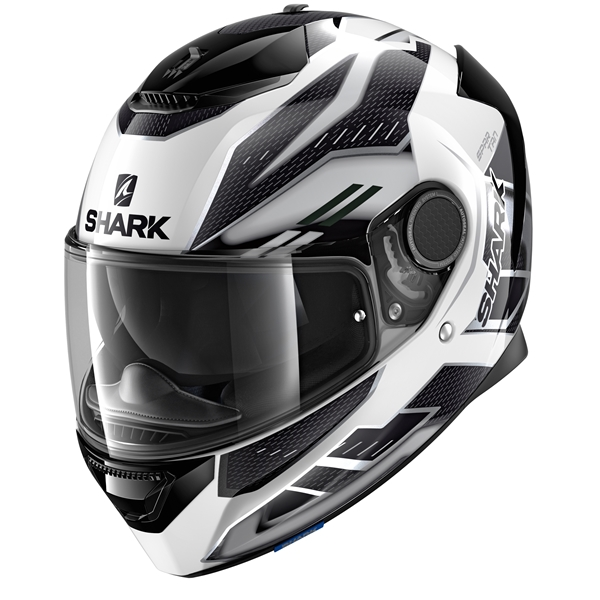 SHARK Spartan 1.2 Antheon Wit-Zilver-Zwart WSK